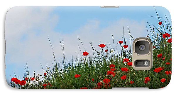 Galaxy Case featuring the photograph Poppies In A French Landscape by Ankya Klay