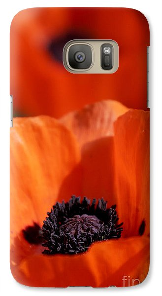 Galaxy Case featuring the photograph Poppies In Sunlight by Lincoln Rogers