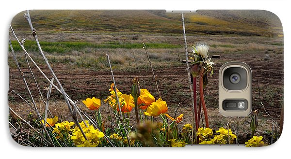 Galaxy Case featuring the photograph Poppies In The Field Chiracahua Mountains by Diane Lent