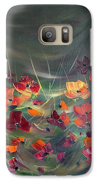 Galaxy Case featuring the painting Poppies In The Shadow by Dorothy Maier