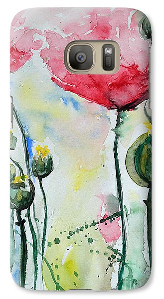 Galaxy Case featuring the painting Poppies by Ismeta Gruenwald