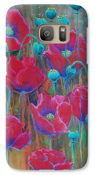Galaxy Case featuring the painting Poppies  by Jani Freimann
