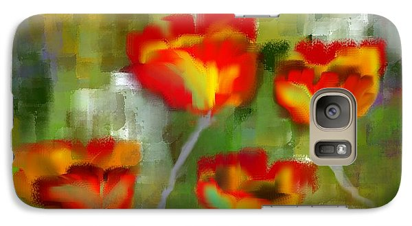 Galaxy Case featuring the painting Poppies by Jessica Wright