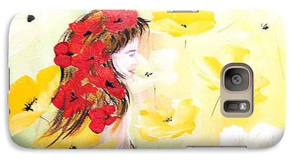 Galaxy Case featuring the painting Poppies Lady by Dorothy Maier