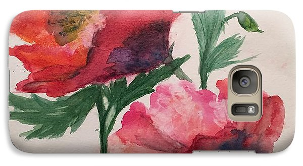 Galaxy Case featuring the painting Poppies by Lucia Grilletto