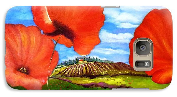 Galaxy Case featuring the painting Poppies Of Provence by Therese Alcorn