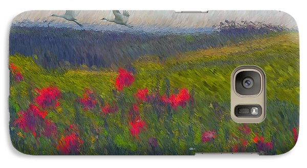Galaxy Case featuring the digital art Poppies Of Tuscany by Lianne Schneider