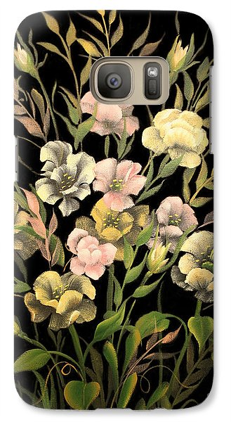 Galaxy Case featuring the painting Poppies On Black Canvas by Jimmie Bartlett