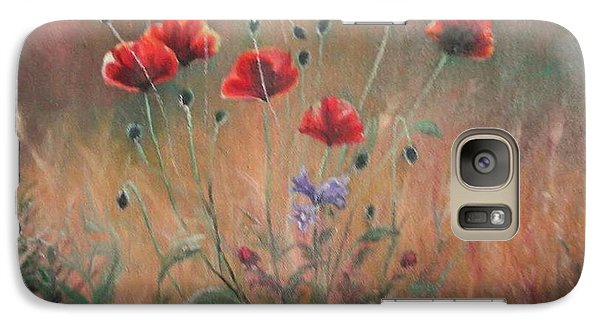 Galaxy Case featuring the painting Poppies by Sorin Apostolescu