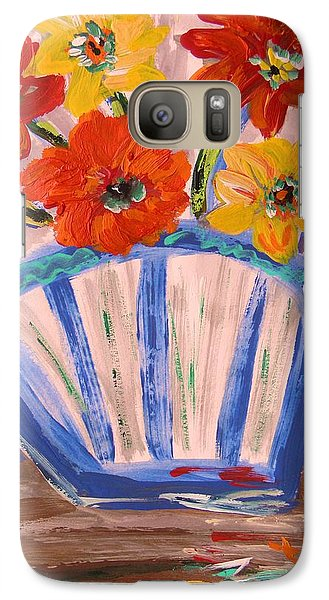 Galaxy Case featuring the painting Popping by Mary Carol Williams