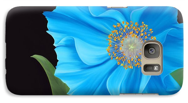 Galaxy Case featuring the painting Poppy 2 by Laura Bell