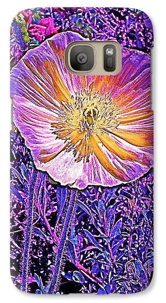 Galaxy Case featuring the photograph Poppy 3 by Pamela Cooper
