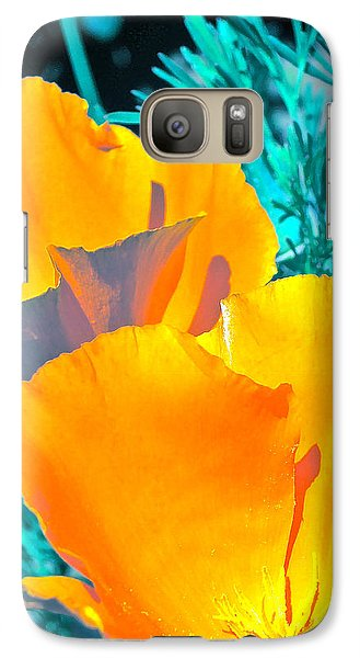 Galaxy Case featuring the photograph Poppy 4 by Pamela Cooper