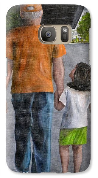 Galaxy Case featuring the painting Poppy And Me by Debbie Baker