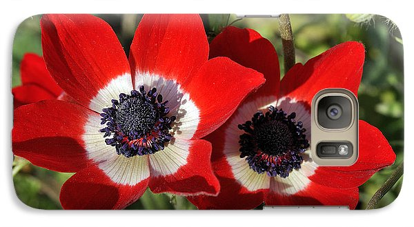 Galaxy Case featuring the photograph Poppy Anemones by George Atsametakis