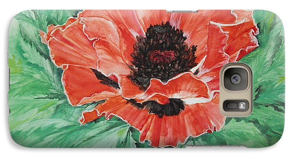 Galaxy Case featuring the painting Poppy by Ellen Canfield