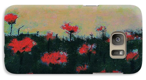 Galaxy Case featuring the painting Poppy Field by Jacqueline McReynolds