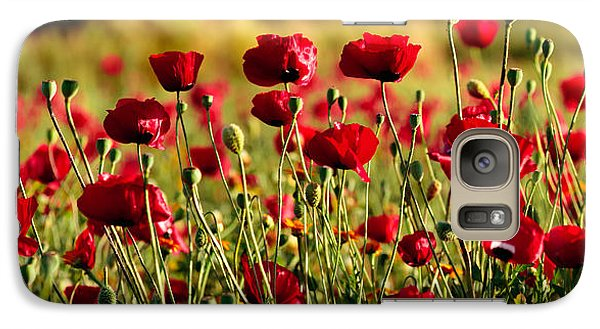 Galaxy Case featuring the photograph Poppy Fields Forever by Uri Baruch