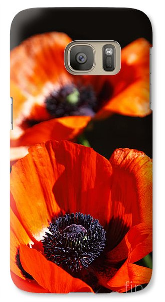 Galaxy Case featuring the photograph Poppy Flower Pair by Lincoln Rogers