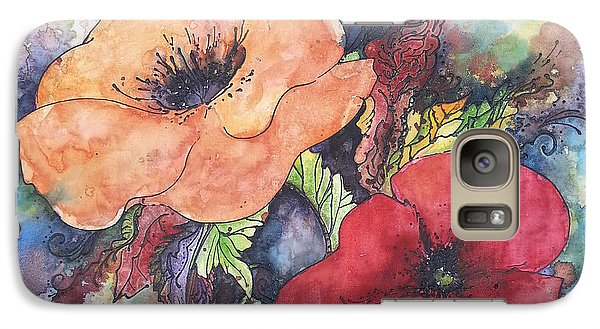 Galaxy Case featuring the painting Poppy Flowers Orange And Red by Christy  Freeman