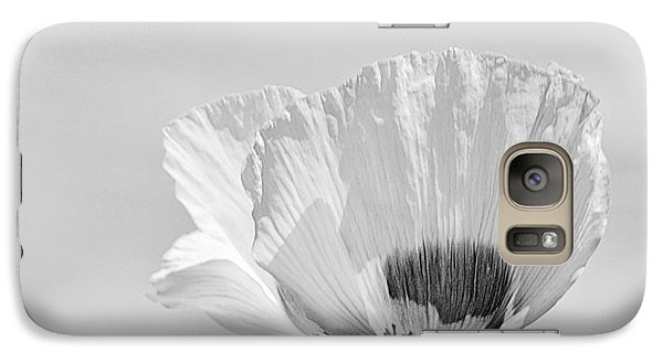 Galaxy Case featuring the photograph Poppy In White by Ludwig Keck