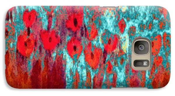 Galaxy Case featuring the painting Poppy Passion by Holly Martinson