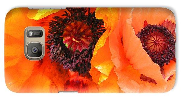 Galaxy Case featuring the photograph Poppy Power by Brooks Garten Hauschild