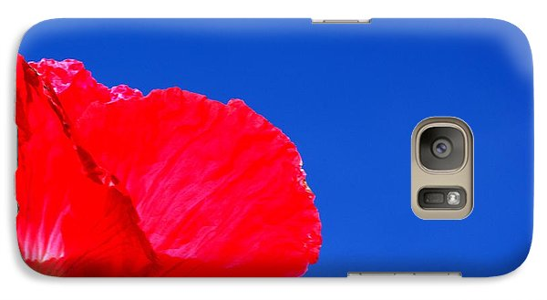 Galaxy Case featuring the photograph Poppy Sky by Baggieoldboy