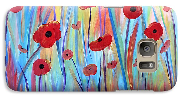 Galaxy Case featuring the painting Poppy Symphony by Stacey Zimmerman