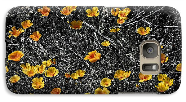 Galaxy S7 Case featuring the photograph Poppyflies by Mark Myhaver