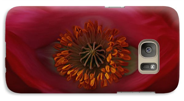 Galaxy Case featuring the photograph Poppy's Eye by Barbara St Jean
