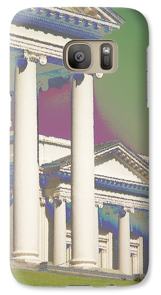 Galaxy Case featuring the photograph Porch Of State Capitol Richmond Va by Suzanne Powers