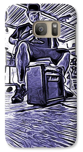 Galaxy Case featuring the photograph Porch Pickin by Bartz Johnson