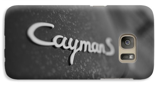 Galaxy Case featuring the photograph Standing Porsche Cayman S by Miguel Winterpacht