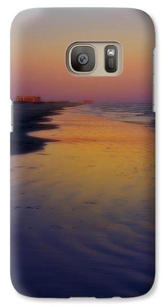 Galaxy Case featuring the photograph Port Aransas Sunset by Ellen Heaverlo