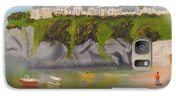 Galaxy Case featuring the painting Port Asaac Cornwell by Pamela  Meredith