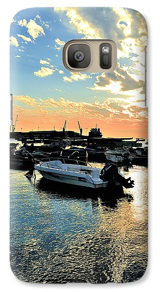 Galaxy Case featuring the photograph Port At Sunset by Marwan Khoury