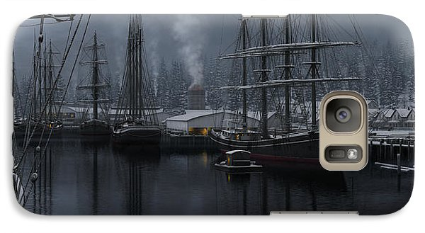 Galaxy Case featuring the painting Winter's Warmth by Ron Crabb