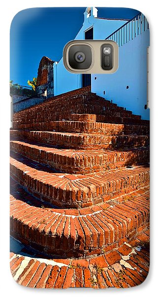 Galaxy Case featuring the photograph Porta Coeli Steps by Ricardo J Ruiz de Porras
