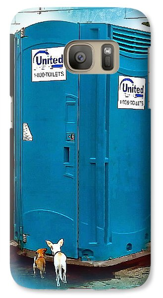 Galaxy Case featuring the photograph Porta Puppy Potty... by Sadie Reneau