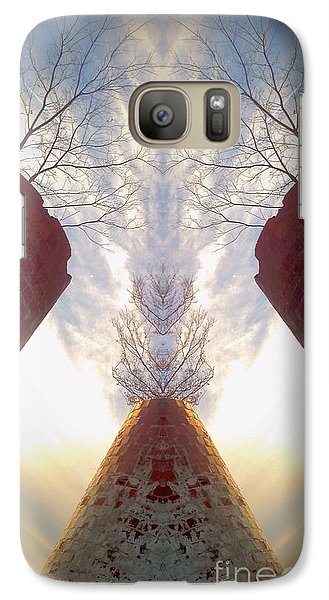 Galaxy Case featuring the photograph Portal Of The Silos by Karen Newell