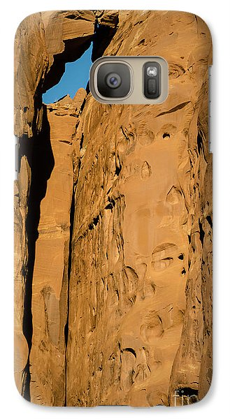 Galaxy Case featuring the photograph Portal Through Stone by Jeff Kolker