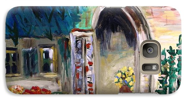 Galaxy Case featuring the painting Portico by Mary Carol Williams