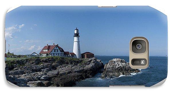 Galaxy Case featuring the photograph Portland Head Light House by Daniel Hebard