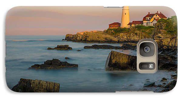 Galaxy Case featuring the photograph Portland Head Lighthouse by Steve Zimic