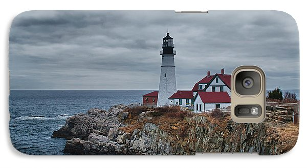 Galaxy Case featuring the photograph Portland Headlight 14440 by Guy Whiteley