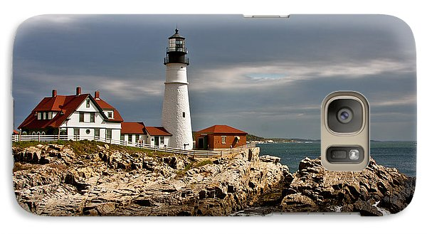 Galaxy Case featuring the photograph Portland Headlight by John Haldane