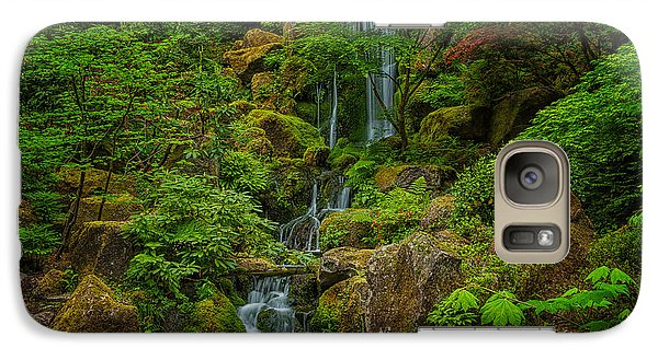 Galaxy Case featuring the photograph Portland Japanese Gardens by Jacqui Boonstra