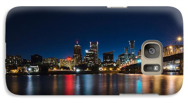 Galaxy Case featuring the photograph Portland Oregon Nightscape by Don Schwartz