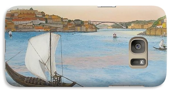 Galaxy Case featuring the painting Porto by Hilda and Jose Garrancho